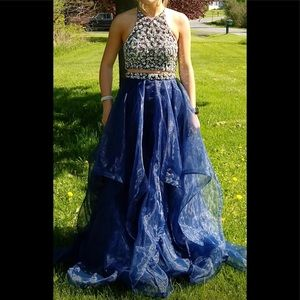 Beautiful two-piece prom dress size for